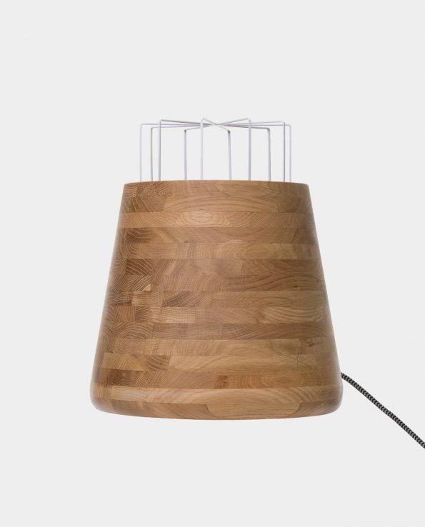 Bullet – raw oak, bent cage